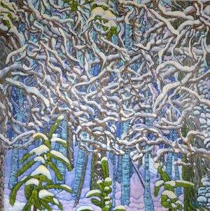 First snow in Allschwilerwald