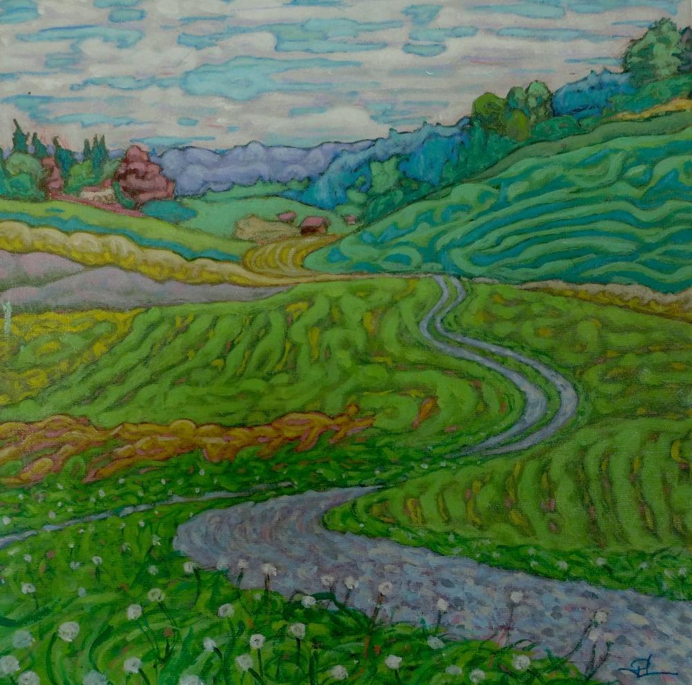 Path to Menzingen (acrylic on canvas, 30 x 30cm)