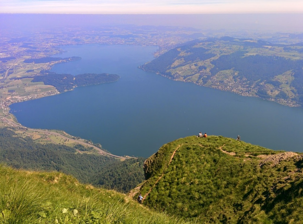 View from atop Rigi Kulm towards lake zug and home.