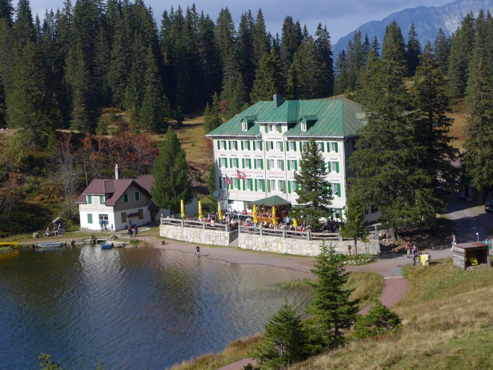 Hike-in hotel at Seebenalp