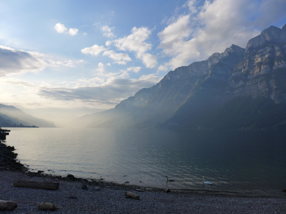 Walensee at sunset