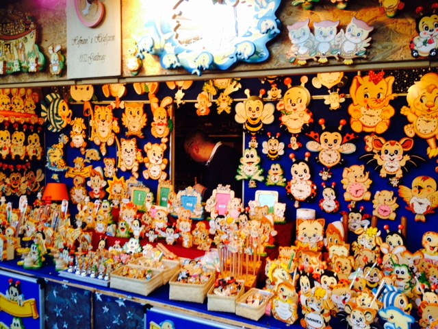 Crazy kitsch sold at christmas market