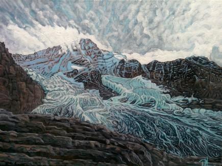 """Eigergletscher"" - acrylic on canvas, 30 x 40cm"