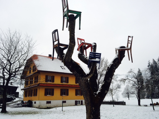 Swiss farm tree art...
