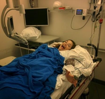 Enjoying some good, high  times in ER