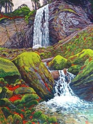 Falls at Ruine Wildenburg (acrylic on canvas, 60cm x 80cm)